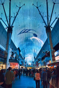 Fremont Street Experience pre-Life is Beautfiul Festival