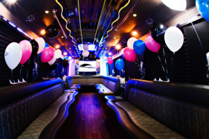 Get around Vegas in party buses.